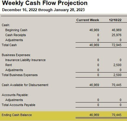 QuickBooks Cash Flow