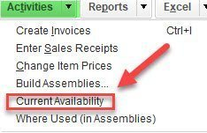 Current Availability by Bin in QuickBooks Enterprise